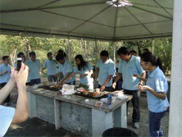 2017 இலையுதிர்காலத்தில் குக்குன் பூங்காவில் BBQ